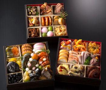 日本料理青柳・リストランテアルポルト・広東名菜赤坂離宮 AAA和洋中おせち三段重